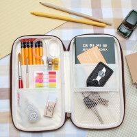 umi创意文具袋韩国简约男女学生笔帘文具盒大容量笔帘铅笔袋