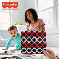 费雪早教卡套装黑白卡片婴儿视觉训练卡认知卡0-3个月益智玩具1岁