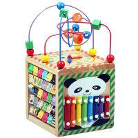 一两岁宝宝玩具1-2-3周半早教力绕珠男女孩婴儿6个月儿童串珠
