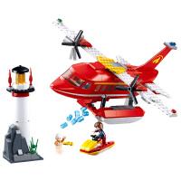小鲁班消防飞机玩具6-9男孩小学生10男童12大童十岁拼装积木legao 水上消防飞机(348片3人仔)