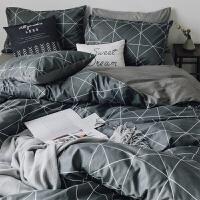 全棉四件套ins北欧风网红棉被套被子床单人床上用品三3件套床笠