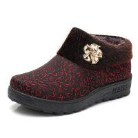 冬季老北京布鞋女鞋老人棉鞋厚底中老年妈妈鞋保暖加厚奶奶鞋