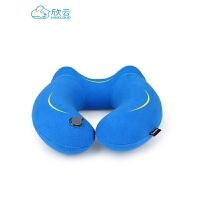 充气u型枕旅行枕颈椎枕便携吹气枕飞机旅游三宝脖子护颈枕u形枕头