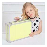 玩具开学季水彩笔套装儿童绘画套装蜡笔彩色铅笔儿童画画工具小朋友礼品画具 黄色铝盒145件套 送勾线笔填色本