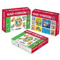 科博MAG-WISDOM魔磁智慧片 磁力片建构片玩具积木 71件
