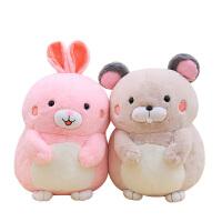 毛绒玩具仓鼠公仔抱枕小熊布娃娃可爱兔兔玩偶儿童生日礼物送女生