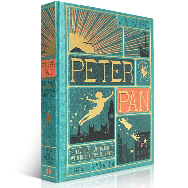 小飞侠彼得潘 Peter Pan 精装手工立体小说 包含插图和10个可移动的插件 精美收藏艺术书读物