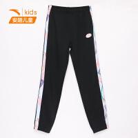 【到手价135】安踏儿童长裤女童针织运动裤2021春夏季新款中大童裤子362125774