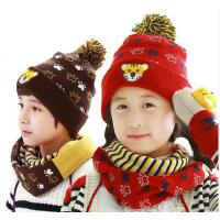 秋冬男女儿童帽子围巾手套 三件套小孩围脖 宝宝帽子