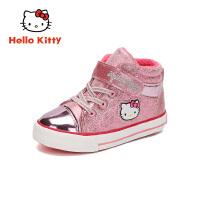 【到手价:79元】HelloKitty凯蒂猫童鞋女童棉鞋2019冬季新款女孩二棉运动鞋加绒保暖鞋K9547833