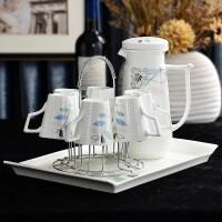 【新品】陶瓷茶杯套装家用杯具客厅北欧式茶具茶壶杯子水杯整套杯简约水具
