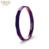 梦克拉 钨金戒指 紫色幻彩 戒指 时尚潮人礼物