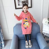 2019年秋季新款加绒韩版中大童洋气长款女童童装秋装卫衣