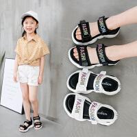 夏季沙滩鞋中大童女孩公主软底鞋潮2019新款时尚韩版女童凉鞋