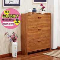 鞋柜简易经济型省空间家用多功能玄关柜仿实木超薄现代简约门厅柜