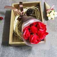 情人节礼品香皂玫瑰花礼盒送妈妈创意生日礼物女生送女友浪漫