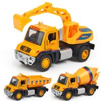 小汽车合金回力工程车模型套装男孩惯性儿童挖掘机玩具