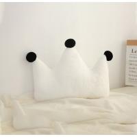 【2件5折】毛绒玩具 新年礼物 予米艺 新品ins星星月亮抱枕床头靠垫皇冠飘窗装饰沙发靠枕毛绒玩具定制 小号皇冠白色