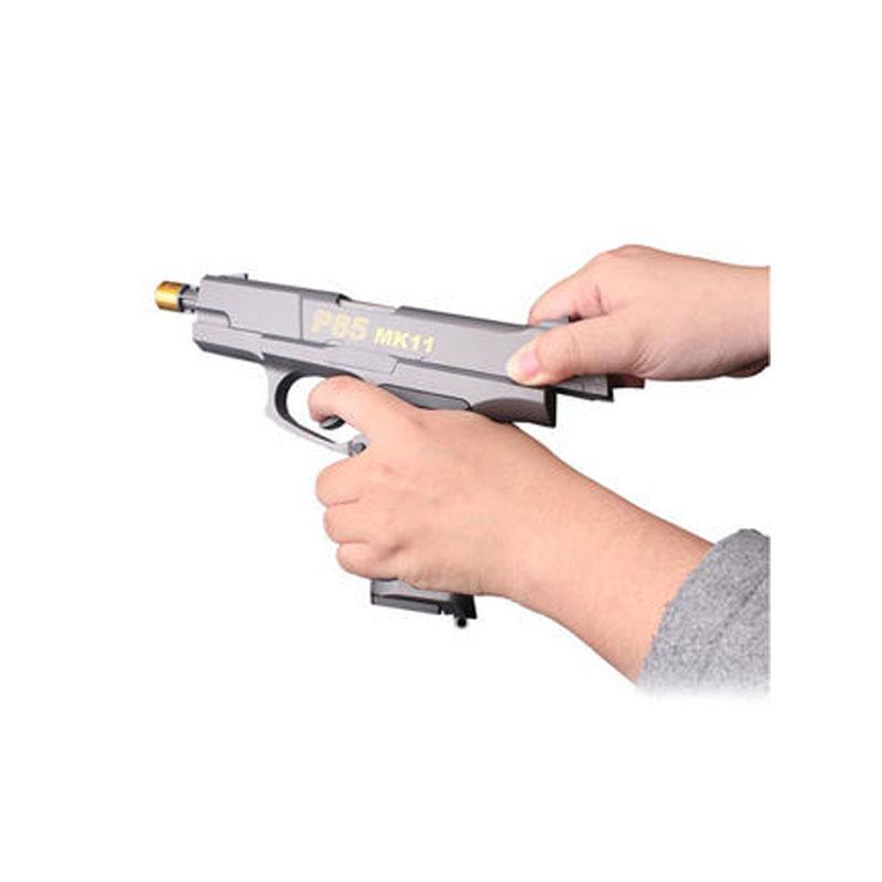 儿童手枪式玩具枪手动单发*可发射吸水弹抢男孩P85小孩xx代