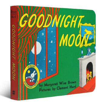 Goodnight Moon 60th Anniversary Edition [Board Book]晚安月亮船60周年纪念版(卡板书) ISBN9780694003617英语英文原版绘本