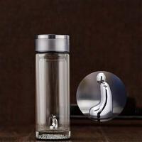 S999银悟者玻璃杯双层保温男士高档商务办公室泡茶杯便携水杯子