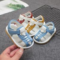 1-2-3岁儿童软底鞋婴儿鞋子包头学步鞋夏季宝宝透气凉鞋