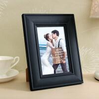 欧式实木相框摆台挂墙七寸7 5 6 8 10十A4 16寸相片框照片框木框情人节礼物 (洗照片+相框) 1