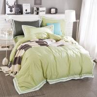 全棉纯棉三件套学生宿舍1.2m床1.5米被套纯色床上用品四件套定制