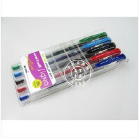 日本三菱笔UM-100双珠�ㄠ�彩色水笔中性笔 5色套装