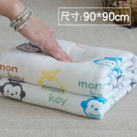 新生儿浴巾90*90cm 婴儿浴巾宝宝新生儿纱布蘑菇盖毯毛巾被柔软吸水QL-110