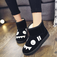 新款冬季雪地靴女靴情侣女鞋平底短筒短靴男加绒加厚保暖棉鞋