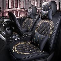 汽车坐垫四季通用皮革全包围座套夏季小车专用座垫卡通女士座椅套