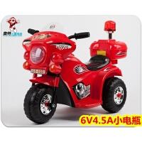 警灯电动三轮摩托闪光带音乐精致电动摩托车1-3岁宝宝电瓶车