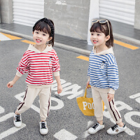 1-2-3-4岁女宝宝春秋季洋气两件套装2019秋季新款女童运动童装