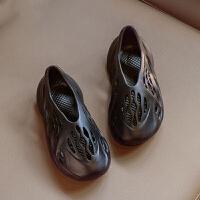 夏季新款时尚儿童凉鞋男童休闲软底鞋子女童椰子洞洞鞋