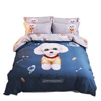 卡通儿童四件套纯棉男孩女1.5米床单公主风全棉磨毛被套床上用品定制 2.0m(6.6英尺)床220 240被套