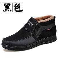 冬季男士棉鞋老北京布鞋高帮加绒加厚男鞋中老年老人爸爸鞋男