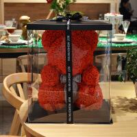 香皂小熊情人节礼物永生玫瑰小熊送闺蜜女生日香皂鲜礼盒