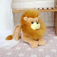 趴姿仿真狮子公仔森林动物狮子王毛绒玩具抓机娃娃礼品定制批发 棕 20cm