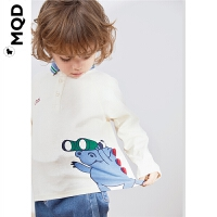 MQD童装男小童POLO衫男宝宝长袖19秋新款儿童可爱卡通翻领上衣