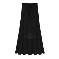 加绒半身裙冬季女裙子2018新款大摆裙高腰加厚长款A字裙半身长裙