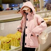 2018秋冬新款防寒服 户外女短款加厚韩版休闲时尚棉服外套