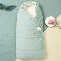 婴儿床上用品婴儿睡袋抱被秋冬防踢被宝宝新生儿包被YW28 75cm