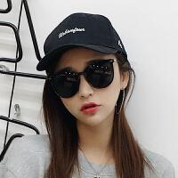 夏季墨镜女士大框圆脸偏光镜长脸反光太阳镜 个性眼镜潮