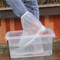 江河海 新款防雨鞋套便携时尚女士防水鞋套平底防滑耐磨防雪靴套
