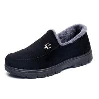 冬季老北京布鞋男棉鞋中老年爸爸保暖男鞋休闲棉鞋加绒