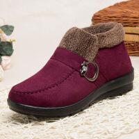 老北京布鞋女中老年人鞋子奶奶保暖鞋老人鞋冬天加绒妈妈棉鞋