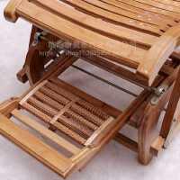 竹躺椅折叠摇摇椅家用逍遥椅阳台休闲午休午睡椅实木老大人凉椅子