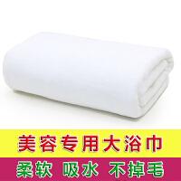 浴巾批发美容院铺床大毛巾洗澡纯棉柔软吸水酒店按摩床单 白色 加厚