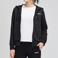 adidas阿迪达斯女服夹克外套2019新款防风连帽休闲运动服DP2414